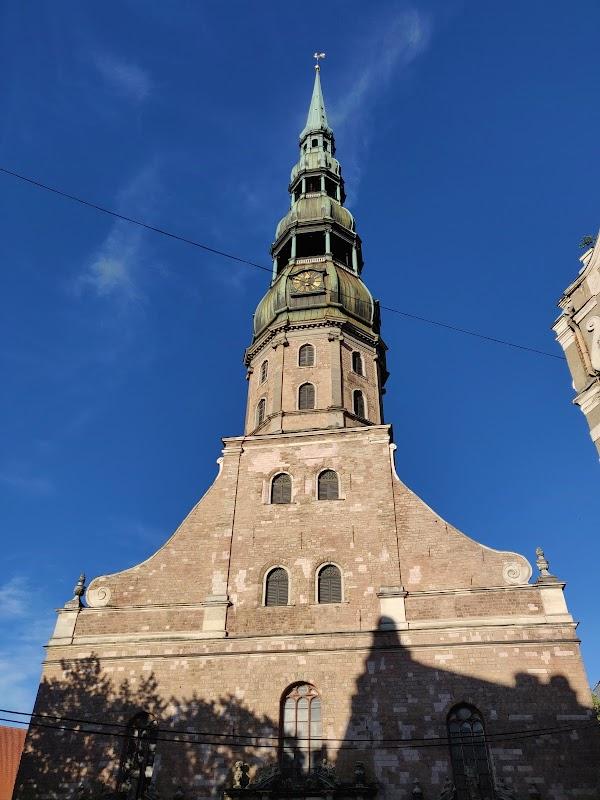 Popular tourist site St. Peter's Church in Riga