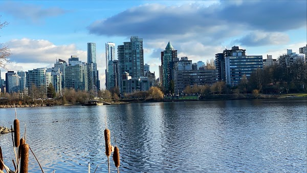 Popular tourist site Stanley Park in Vancouver