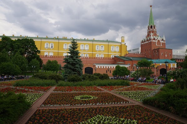 Popular tourist site Aleksandrovskiy Sad in Moscow