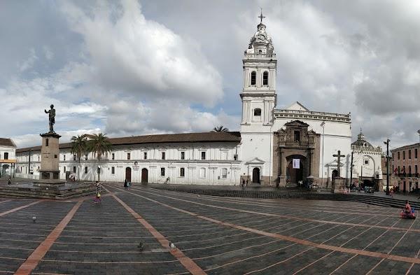 Popular tourist site Santo Domingo Church in Quito