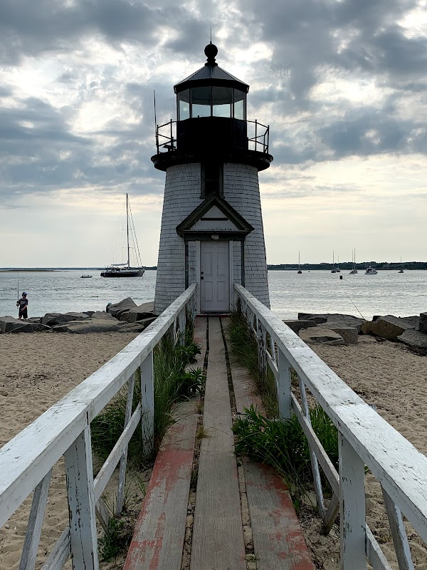 Popular tourist site Brant Point Lighthouse in Nantucket
