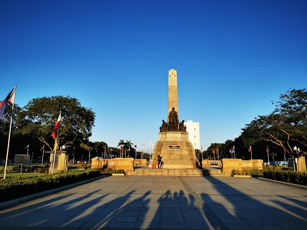 Popular tourist site Rizal Park in Manila