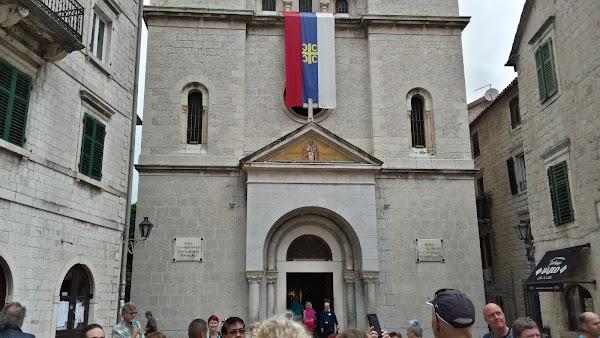 Popular tourist site Saint Nicholas Church in Kotor