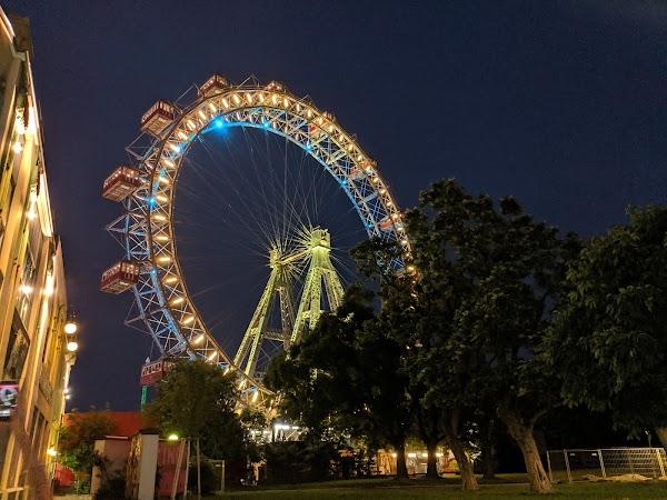 Popular tourist site Viennese Giant Ferris Wheel in Vienna