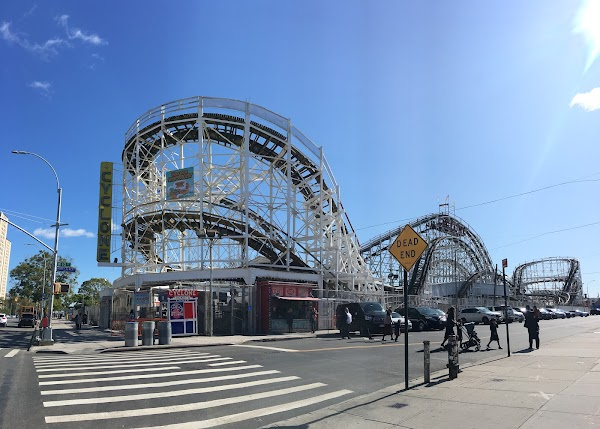 Popular tourist site The Cyclone Roller Coaster Coney Island  in Brooklyn