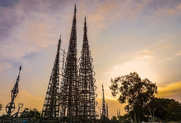 Popular tourist site Watts Towers Arts Center in Los Angeles