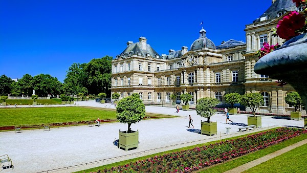 Popular tourist site Luxembourg Gardens in Paris