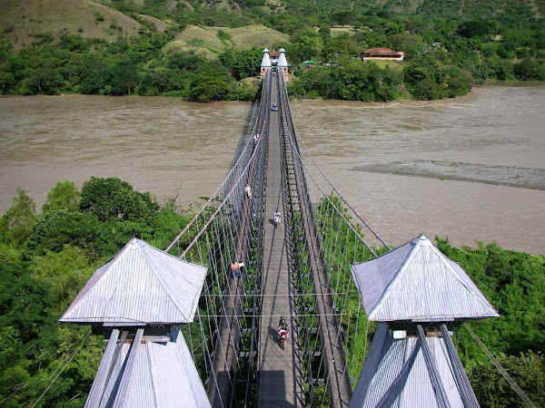 Popular tourist site Puente Colgante De Occidente in Santa Fe de Antioquia
