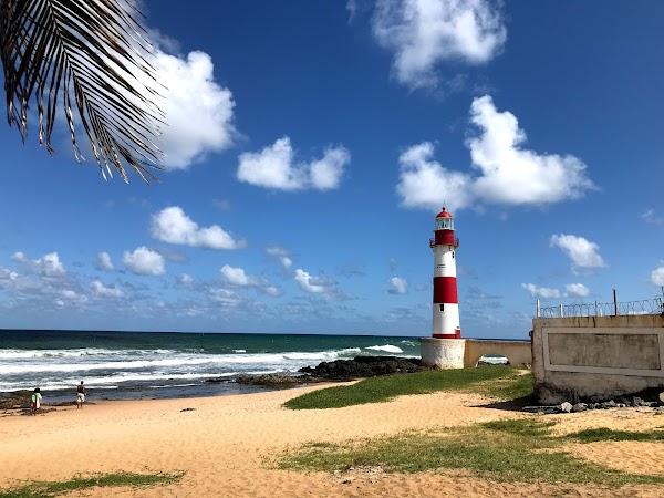 Popular tourist site Itapuã Lighthouse in Salvador