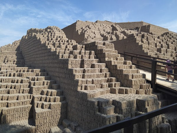 Popular tourist site Huaca Pucllana in Lima