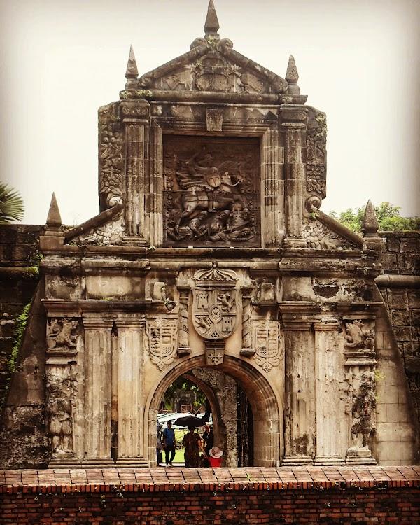 Popular tourist site Fort Santiago in Manila