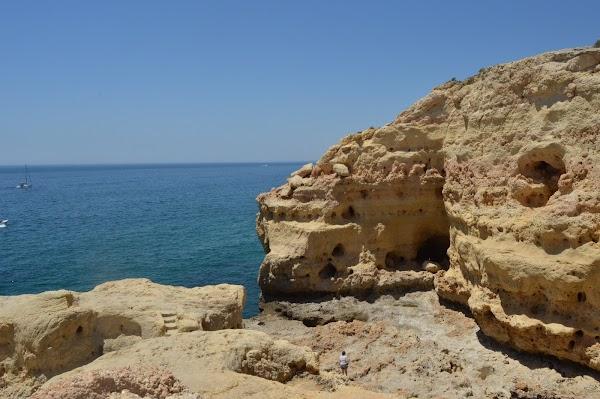 Popular tourist site Algar Seco in Algarve