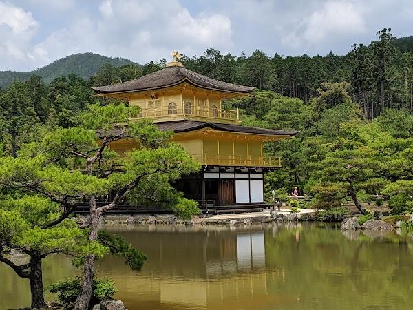 Popular tourist site Kinkaku-ji in Kyoto