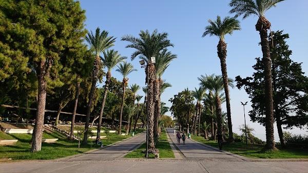 Popular tourist site Karaalioglu Park in Antalya