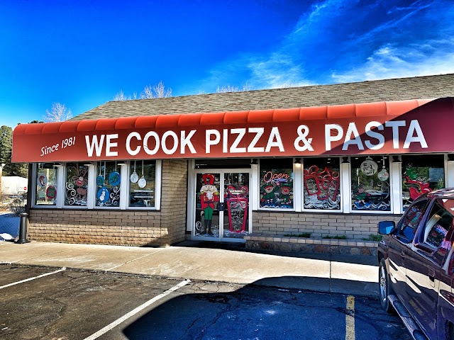 We Cook Pizza and Pasta banner backdrop