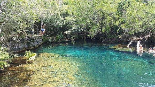 Popular tourist site Laguna Guama in Punta Cana