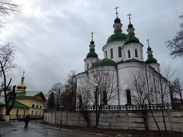 Popular tourist site St. Cyril's Church in Kyiv