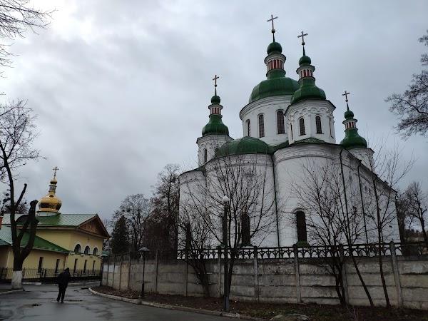 Popular tourist site St. Cyril's Church in Kyiv