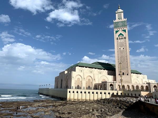 Popular tourist site Hassan II Mosque in Casablanca