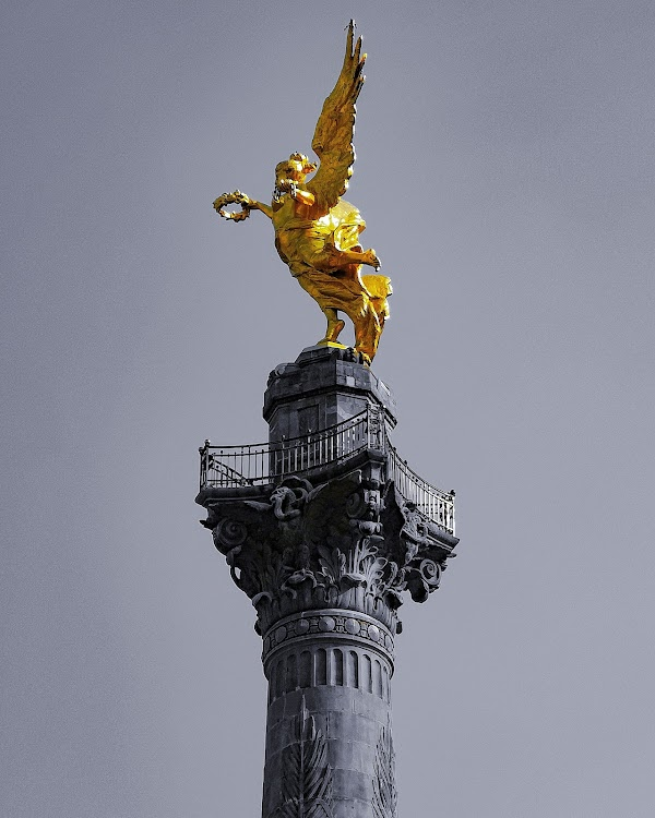Popular tourist site The Angel of Independence in Mexico City