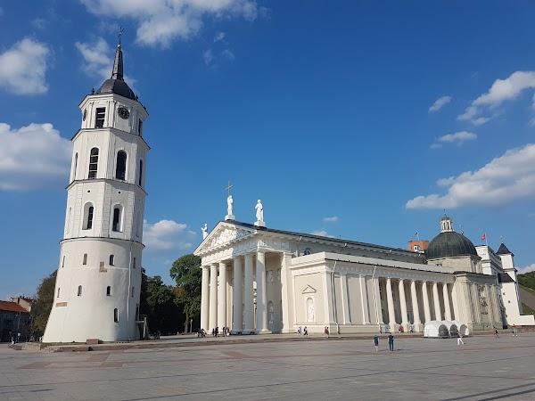 Popular tourist site Vilnius Cathedral in Vilnius