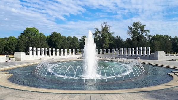 Popular tourist site World War II Memorial in Washington D.C.
