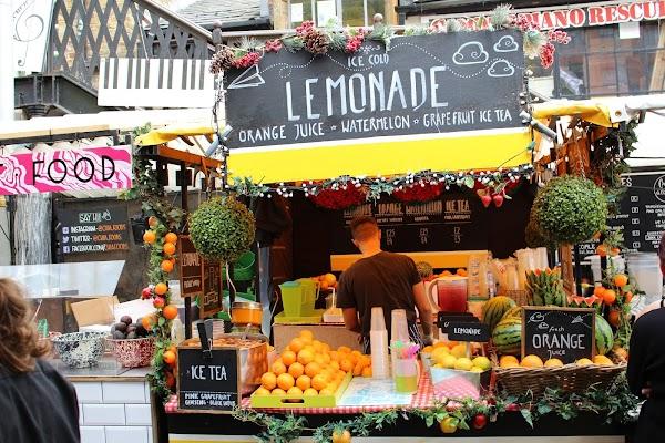 Popular tourist site Camden Market in London