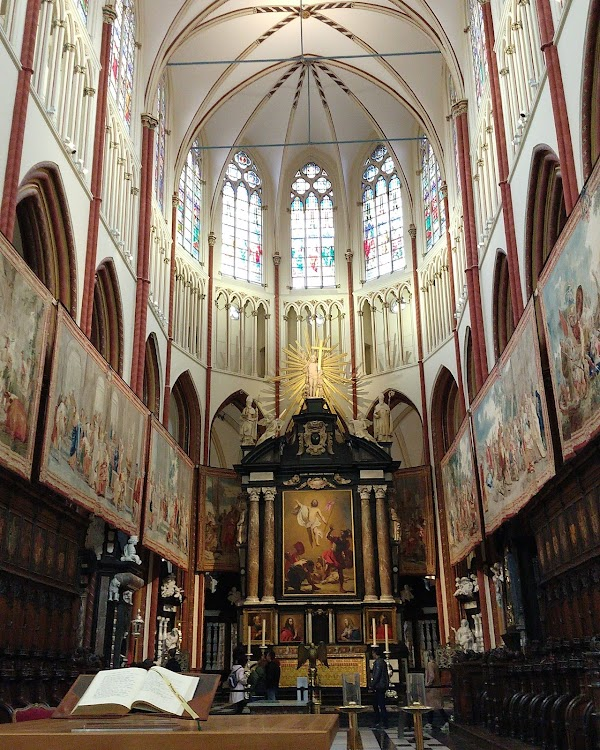 Popular tourist site Sint-Salvatorskathedraal in Bruges
