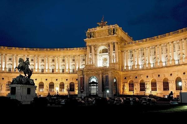 Popular tourist site The Hofburg in Vienna