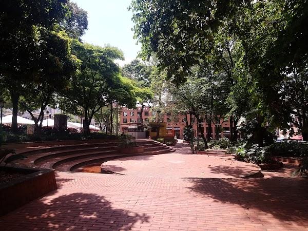 Popular tourist site Parque El Poblado in Medellin