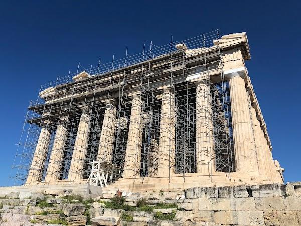 Popular tourist site Parthenon in Athens