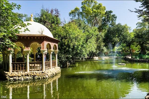 Popular tourist site Parque de María Luisa in Seville