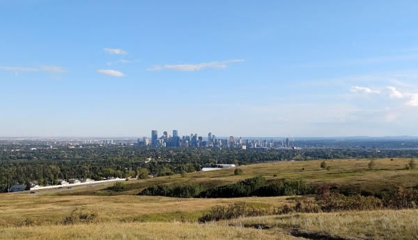 Popular tourist site Nose Hill Park in Calgary