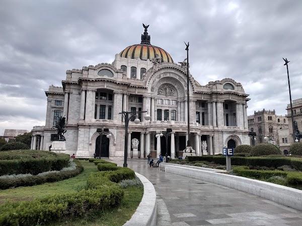 Popular tourist site Palacio de Bellas Artes in Mexico City