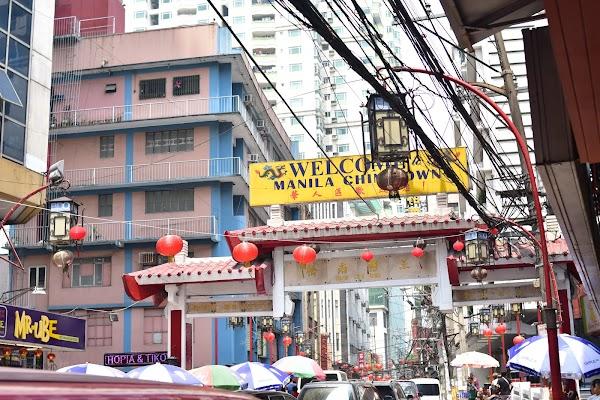 Popular tourist site Chinatown in Manila