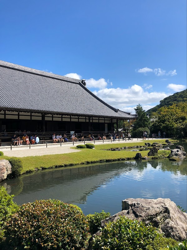 Popular tourist site Tenryuji Temple in Kyoto
