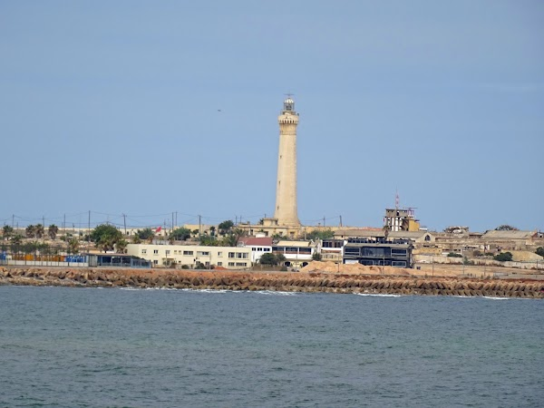 Popular tourist site El Hank Lighthouse in Casablanca