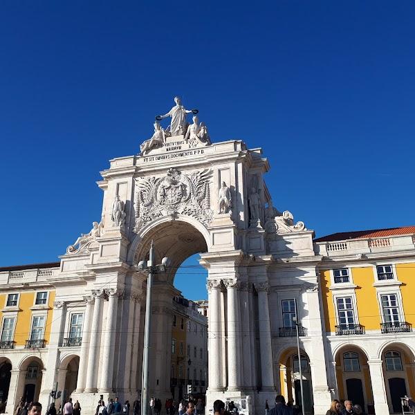 Popular tourist site Arco da Rua Augusta in Lisbon