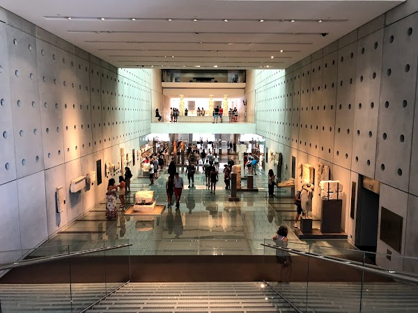 Popular tourist site Acropolis Museum in Athens