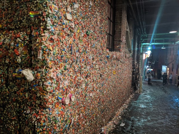 Popular tourist site The Gum Wall in Seattle