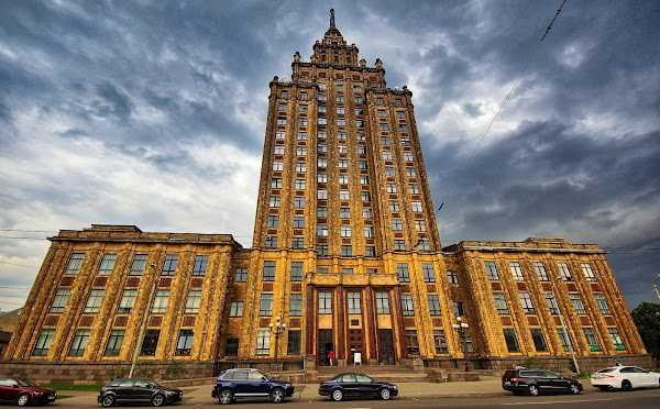 Popular tourist site Latvian Academy of Sciences Observation  in Riga