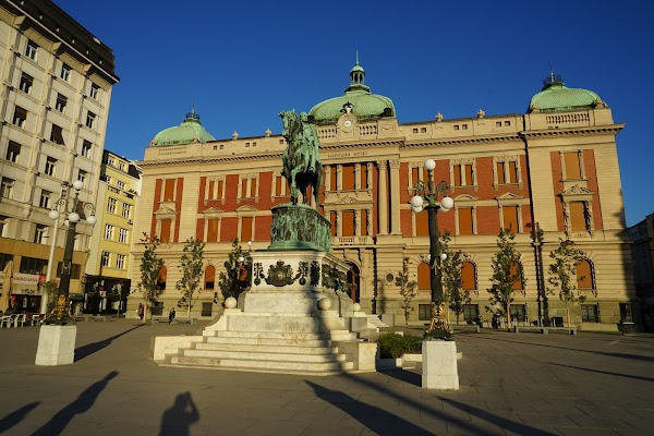 Popular tourist site Republic Square in Belgrade