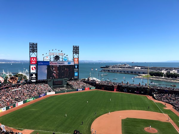 Popular tourist site Oracle Park in San Francisco