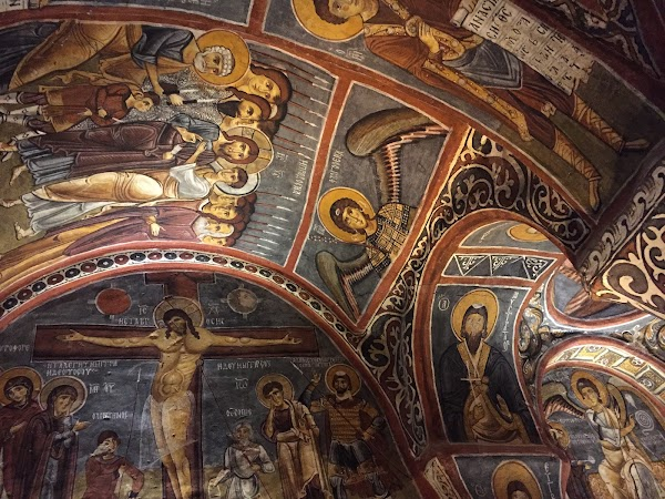Popular tourist site Dark Church in Cappadocia
