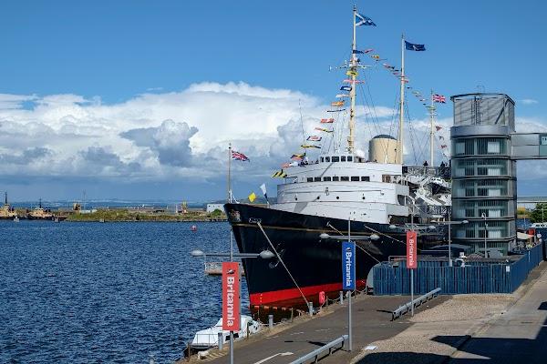 Popular tourist site Royal Yacht Britannia in Edinburgh