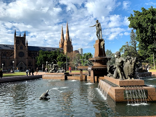 Popular tourist site Archibald Fountain in Sydney
