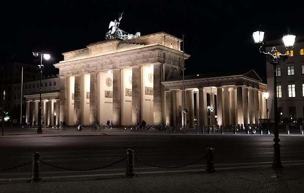 Popular tourist site Brandenburg Gate in Berlin