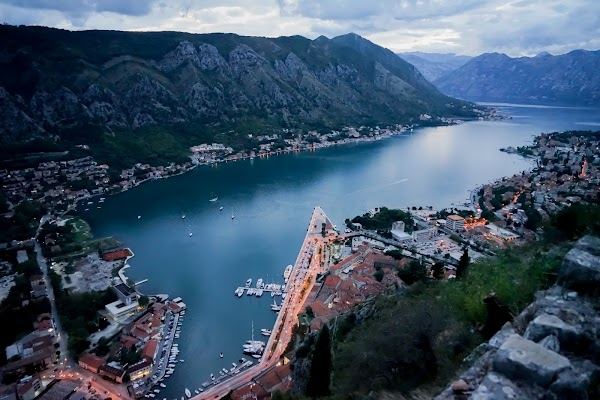 Popular tourist site Old Town Road in Kotor