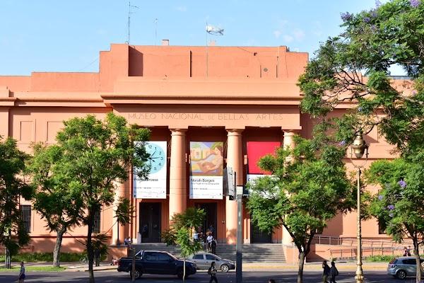 Popular tourist site Museo Nacional de Bellas Artes in Buenos Aires