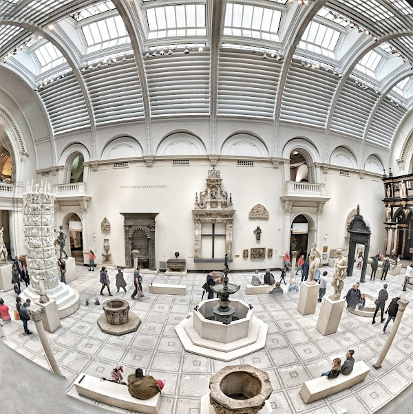 Popular tourist site Victoria and Albert Museum in London